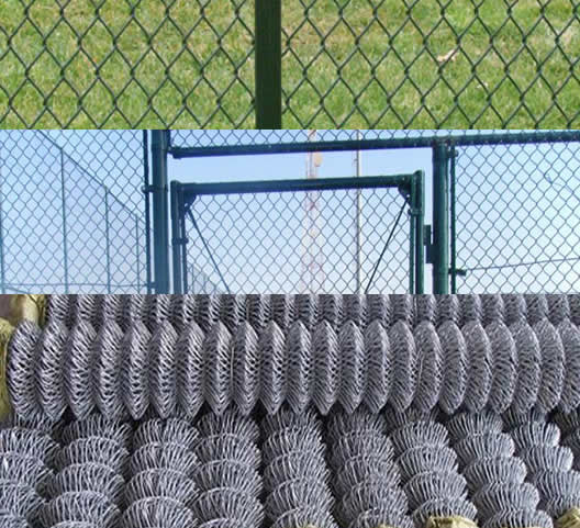 Alkali Resistance Vinyl PVC Coated Steel Wire Chain Link Hardware Fence
